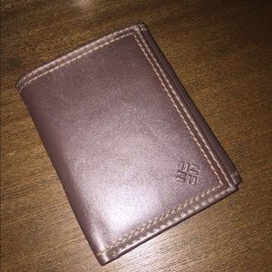 NEW Colombia Tri-fold Chocolate Brown Wallet